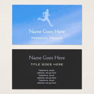 """Cartes de visite personnels d'entraîneur """"de ciel"""