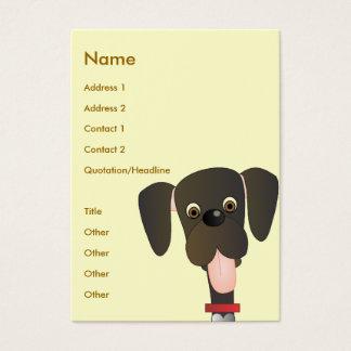 Cartes De Visite Petit grand chien