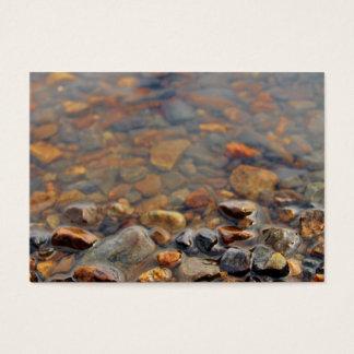 Cartes De Visite Petits cailloux dans l'eau