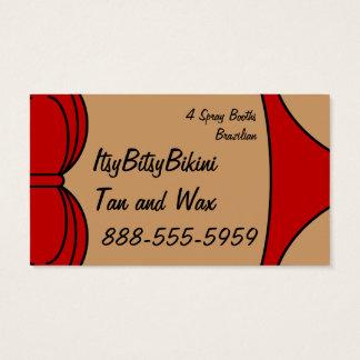 Cartes De Visite Peu de bikini rouge