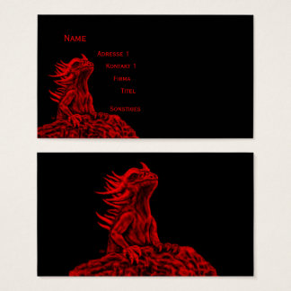 Cartes De Visite Peu de dragon rouge
