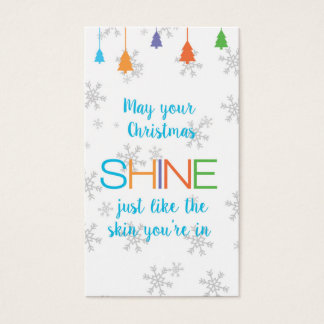 Cartes De Visite Peut votre ÉCLAT de Noël juste comme vous êtes