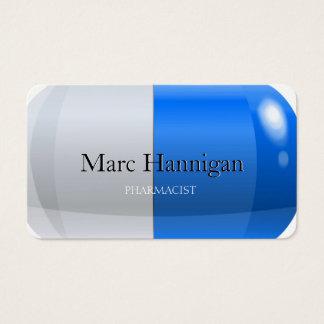 Cartes De Visite PHARMACIEN - pharmacie bleue de pilule