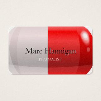 Cartes De Visite PHARMACIEN - pharmacie rouge de pilule