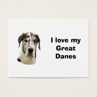 Cartes De Visite Photo d'animal familier de Halequin great dane