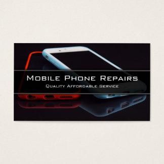 Cartes De Visite Photo de 2 téléphones portables intelligents -