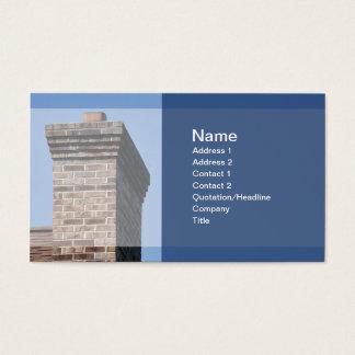 Cartes De Visite photo de plan rapproché d'une cheminée de brique