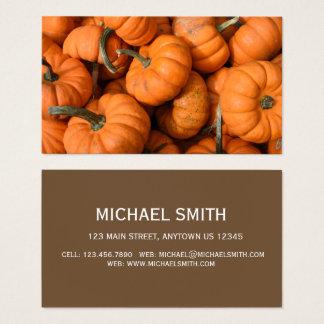 Cartes De Visite Photo orange de courges de jardin de récolte de