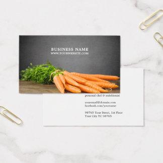 Cartes De Visite Photo personnelle de chef de carottes élégantes