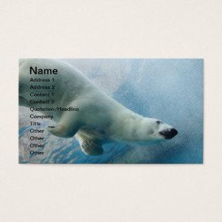 Cartes De Visite Photo sous-marine d'un ours blanc