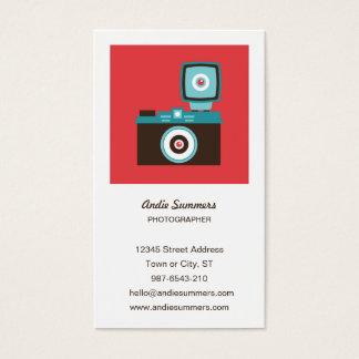Cartes De Visite Photographe coloré d'appareil-photo de Diana Lomo