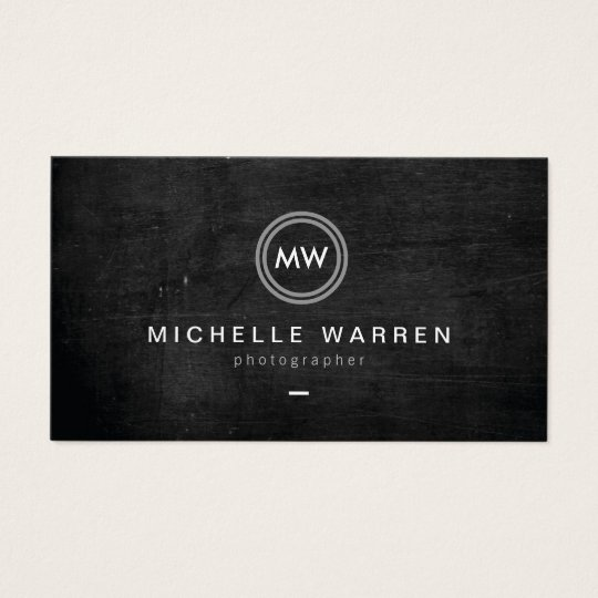 Häufig Cartes De Visite Photographe moderne du logo II d'initiales  WN25