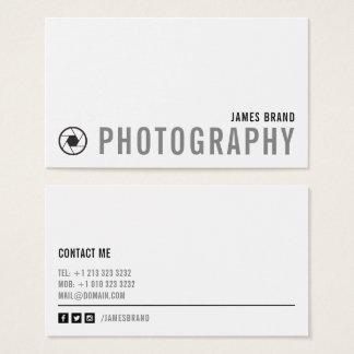 Cartes De Visite Photographe noir et blanc audacieux