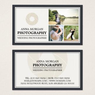 Cartes De Visite Photographie élégante de photographe de mariage