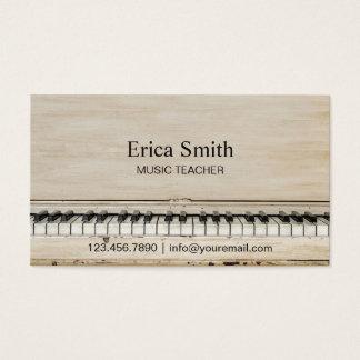 Cartes De Visite Piano de cru de professeur de musique