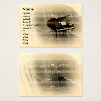 Cartes De Visite Piano de musique