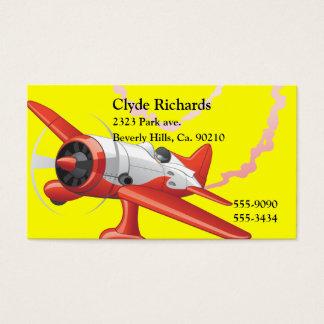 Cartes De Visite Pilote de cascade dans la couleur de coutume