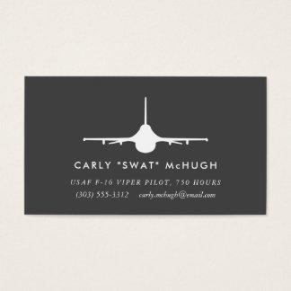 Cartes De Visite Pilote de la vipère F-16 avec le motif assorti