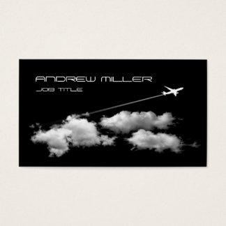 Cartes De Visite Piloter loin/avion/agent de voyage pilote