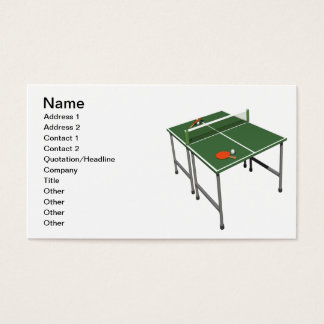 Cartes De Visite Ping-pong