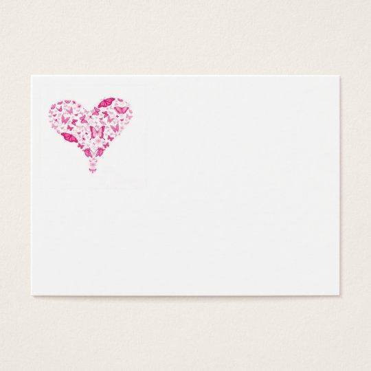 Cartes De Visite pink heart
