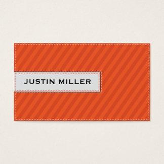 Cartes De Visite Piquer rayé - orange