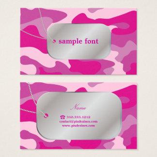 Cartes De Visite PixDezines Camo rose impertinent+Étiquettes de