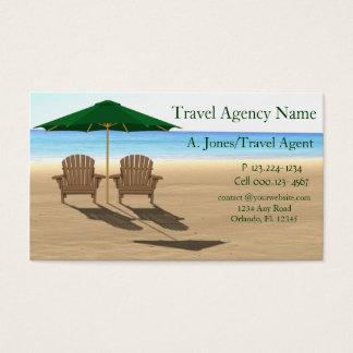 Cartes De Visite Plage d'agence de voyages