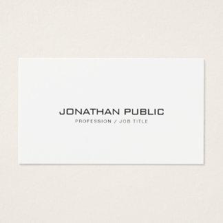 Cartes De Visite Plaine blanche simple élégante professionnelle