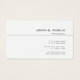 Cartes De Visite Plaine chic minimaliste de conception élégante à