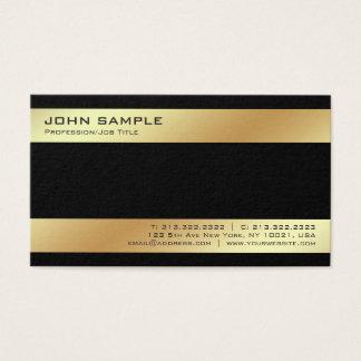 Cartes De Visite Plaine élégante d'or noir moderne de Minimalistic