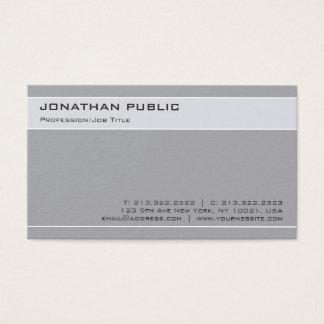 Cartes De Visite Plaine grise de Minimalistic de conception