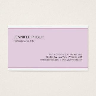 Cartes De Visite Plaine propre de couleur élégante moderne