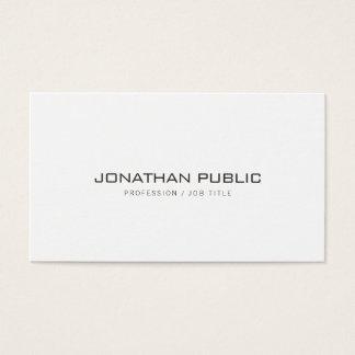 Cartes De Visite Plaine simple élégante professionnelle moderne