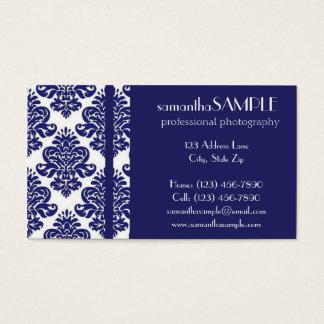 Cartes De Visite Plaisir bleu et blanc