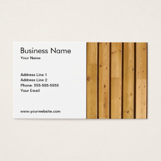 Cartes De Visite Planche en bois classique simple