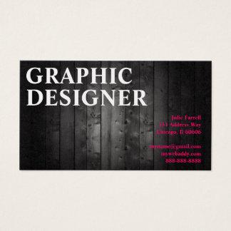 Cartes De Visite Planche en bois de conception graphique d'artiste