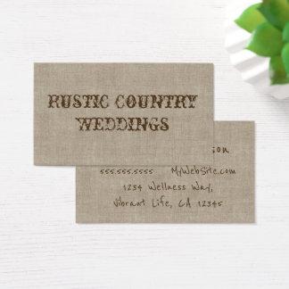Cartes De Visite Planificateur rustique de mariage campagnard