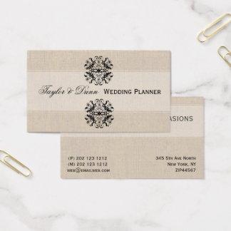 Cartes De Visite Planification complexe élégante vintage florale