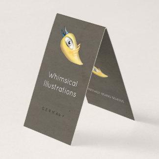 Cartes de visite pliés par oiseau jaune