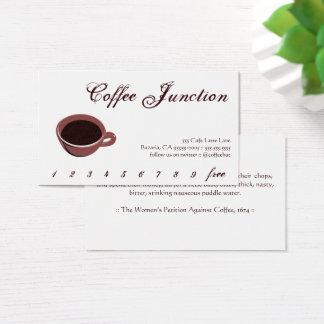 Cartes De Visite Poinçon de boissons de café/carte de fidélité