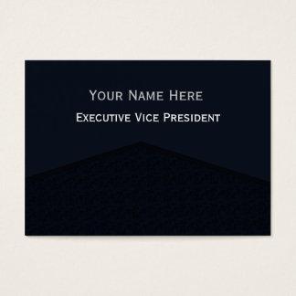 Cartes De Visite Point central foncé de bleu marine