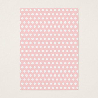 Cartes De Visite Pois blanc sur pâle - rose