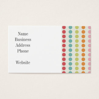 Cartes De Visite Pois coloré d'amusement aligné dans les rangées