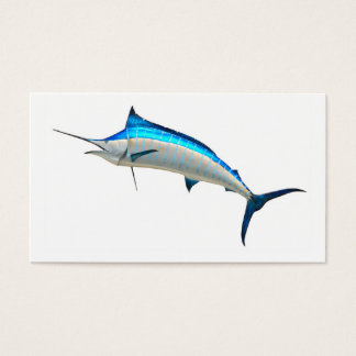 Cartes De Visite Poissons de jeu de Marlin bleu