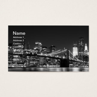 Cartes De Visite Pont de Brooklyn la nuit, New York City