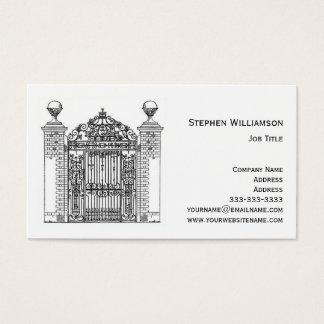 Cartes De Visite Porte ornementale en métal de fer travaillé