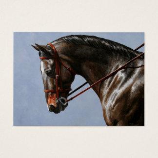 Cartes De Visite Portrait de cheval de dressage de Brown