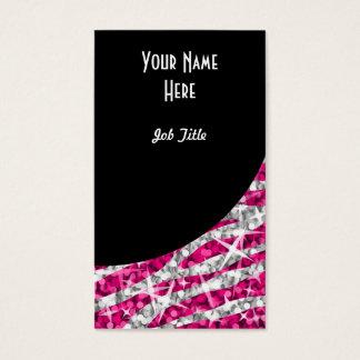 Cartes De Visite Portrait de courbe de noir de rose de zèbre de