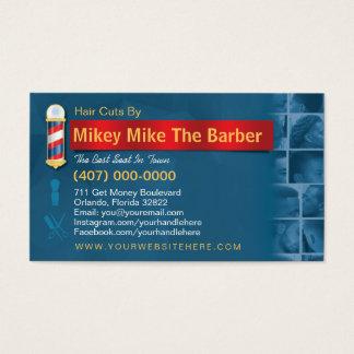 Cartes De Visite Poteau de Carte-Coiffeur d'affaires de